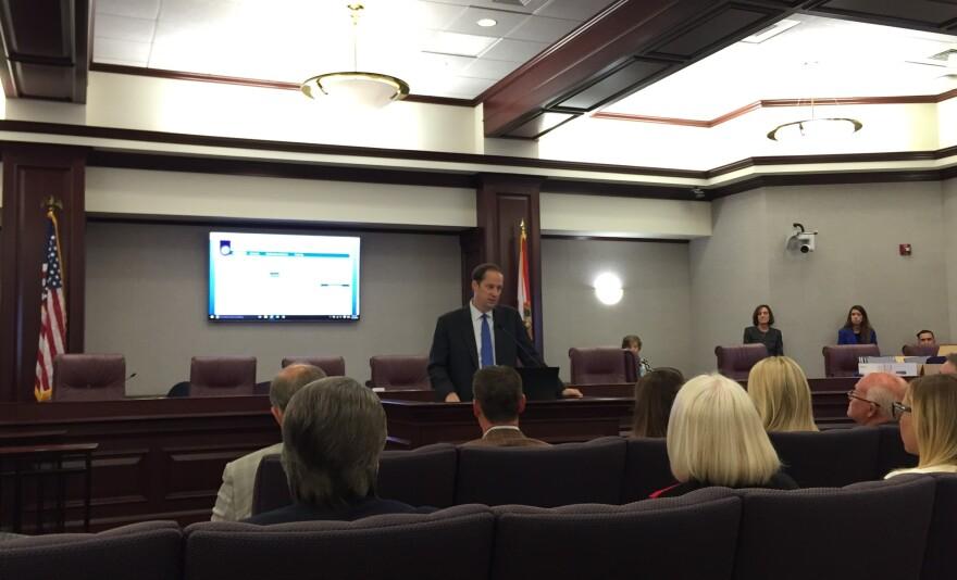 Senate President Joe Negron welcoming new senators.