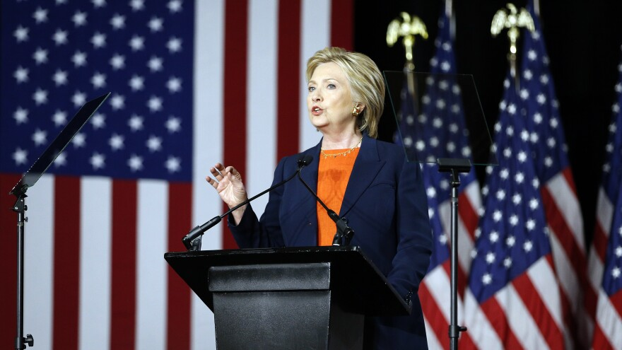 """Democratic presidential candidate Hillary Clinton, speaking on national security, said Thursday it would be a """"historic mistake"""" to elect Donald Trump, whom she called unfit to be commander in chief."""