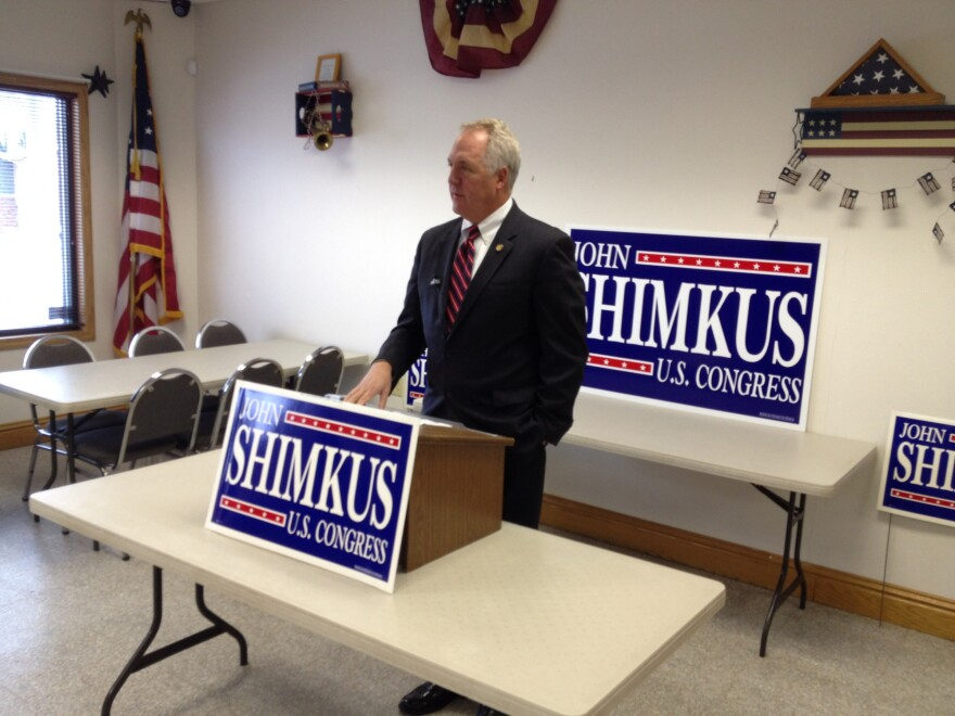 U.S. Rep. John Shimkus, R-Collinsville, announces his bid for a 10th term in Congress in Troy.