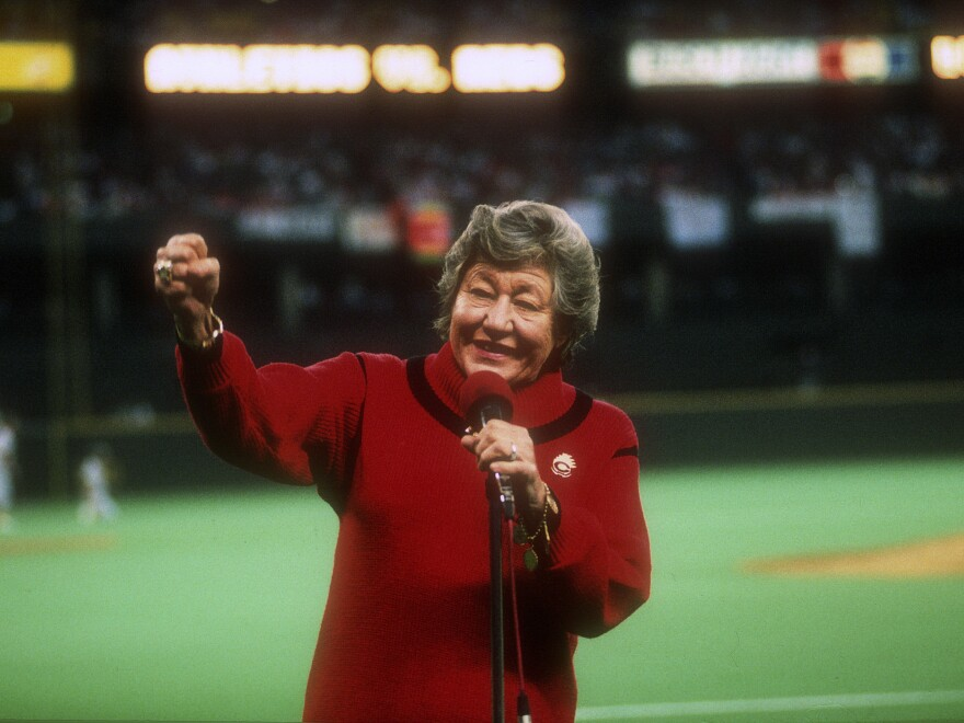 Cincinnati Reds owner Marge Schott, at the 1990 World Series at which the Reds swept the Oakland Athletics, was known for using racial and ethnic slurs and even praising Adolf Hitler.