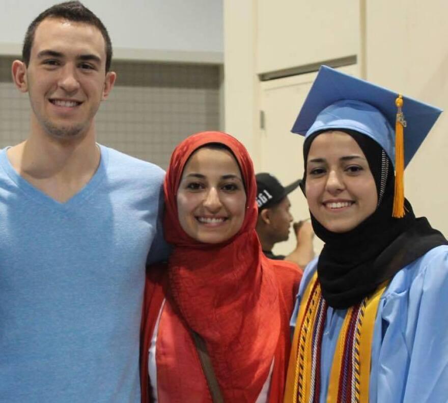 Deah Barakat, his wife, Yusor Mohammad Abu-Salha, and her sister, Razan Mohammad Abu-Salha, were killed in February of 2015.