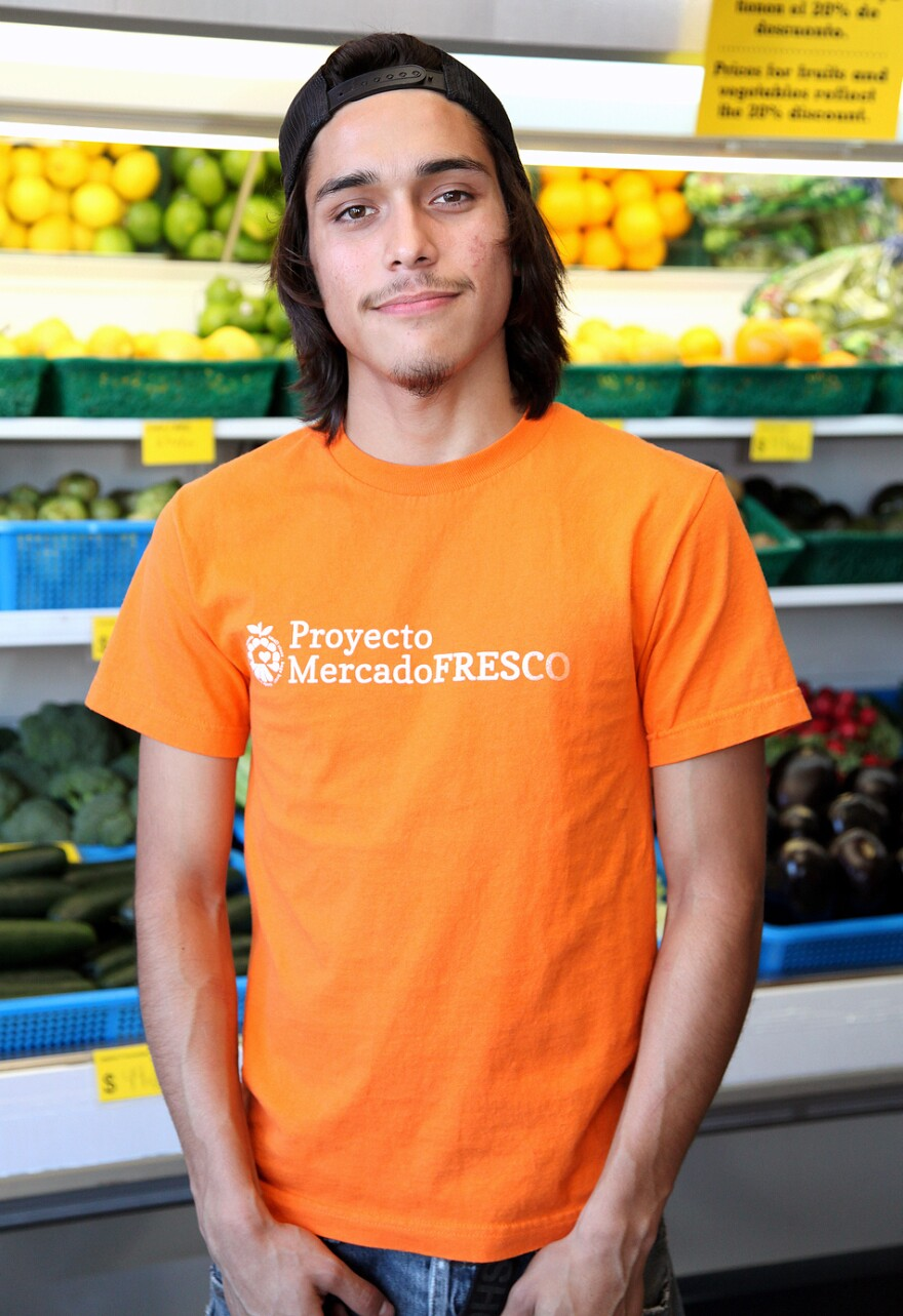 High school senior Steven Cardona, 17, has worked with the store conversion project for the past year. He says learning about nutrition changed his family's diet dramatically.
