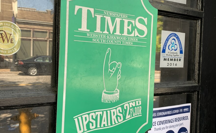 The Webster-Kirkwood Times is operating from an office on West Lockwood Avenue in Webster Groves.