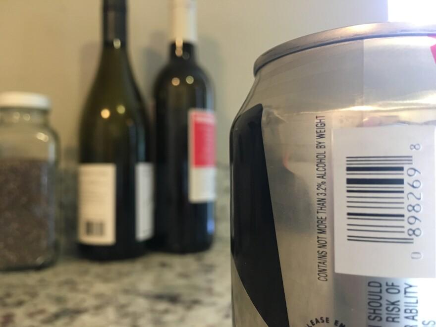 photo of 3.2 beer label.