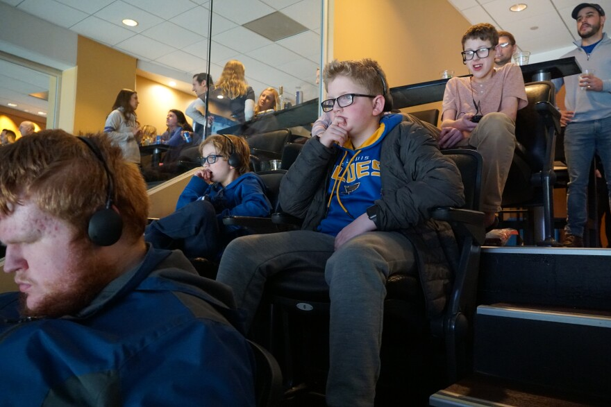 A group of visually impaired young people listened in to a live description of the game and its surrounding festivities. [12/24/19]