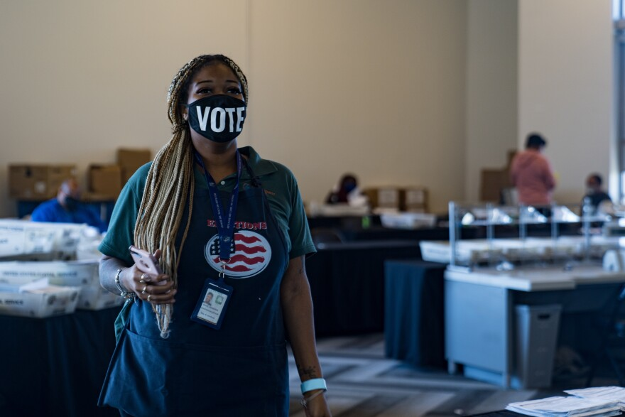 Fulton County election worker Shaye Moss was singled out, along with her mother, in conspiracy theories spread by Trump and his allies.