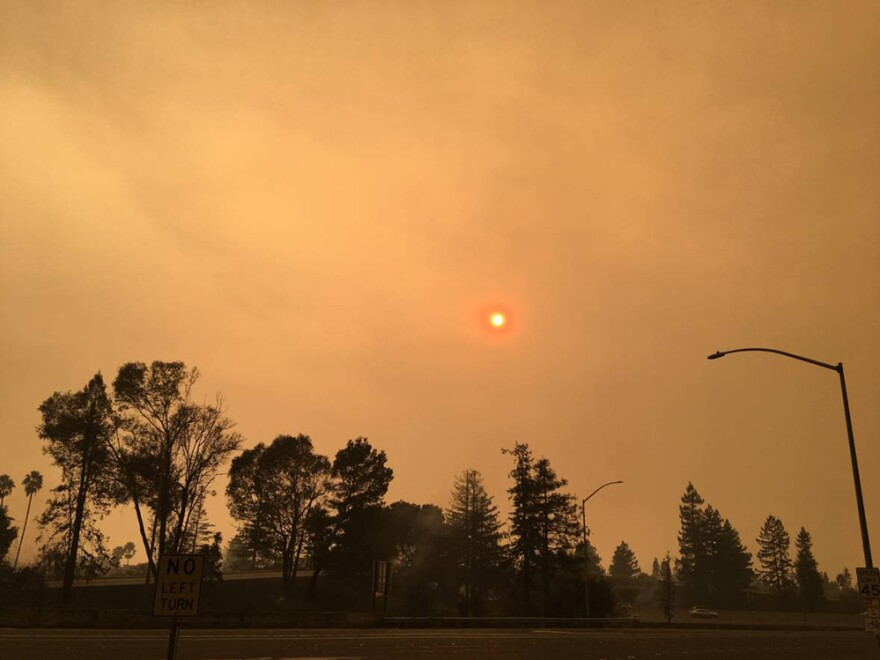 The sky over Santa Rosa, Calif., on Monday.