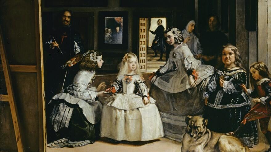 A detail from Diego Velázquez' famous painting <em>Las Meninas</em>, or <em>The Ladies-in-Waiting.</em>