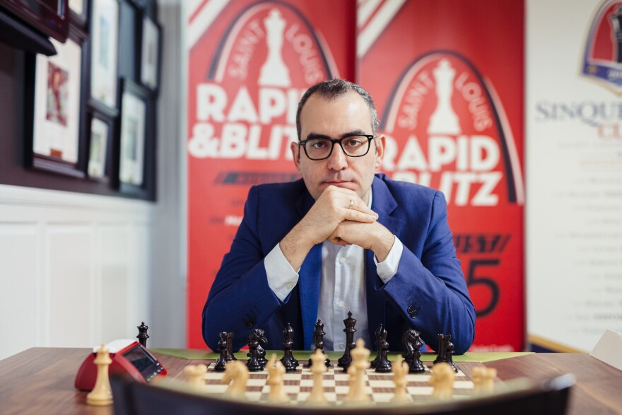 Grandmaster Leinier Dominguez at a recent Rapid Blitz tournament at the St. Louis Chess Club.