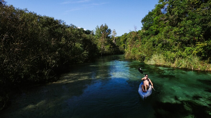 kayak on Weeki Wachee River