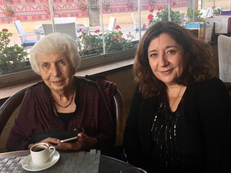 Gailani and NPR correspondent Jane Arraf in Amman, Jordan.