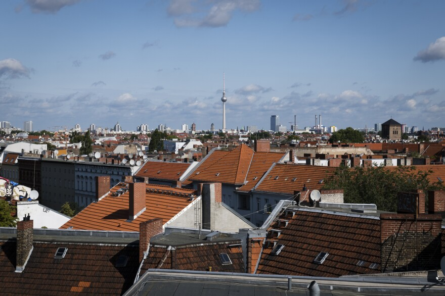 View of Berlin from the Neukölln district, home to some of Germany's 800,000 Syrian refugees. In 2018, French and German prosecutors issued the first international arrest warrants for senior Syrian security officials. Yet, President Bashar Assad and his lieutenants remain in Syria, out of reach of prosecutors.