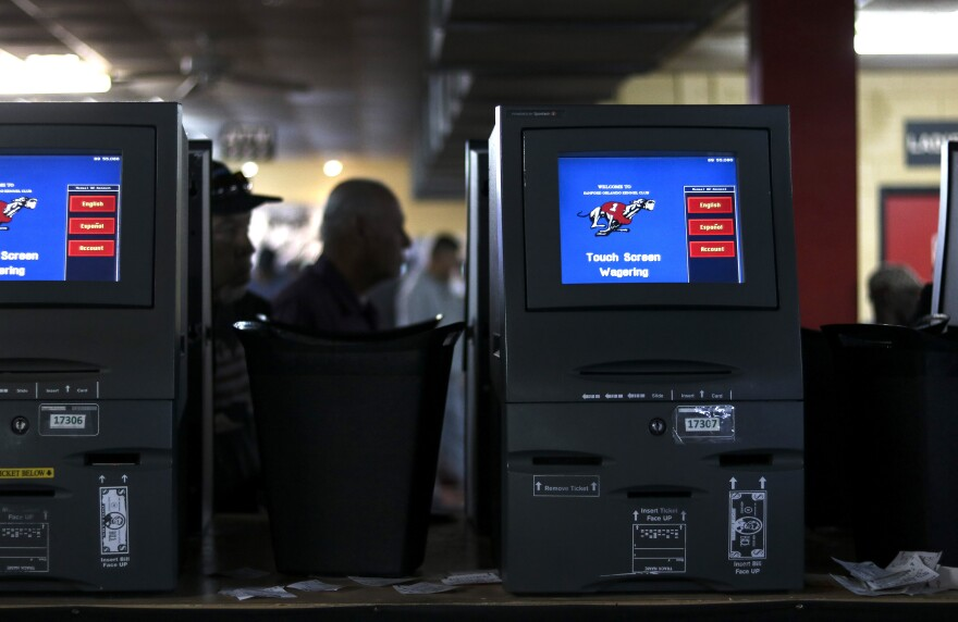 automated touch screen wagering machines