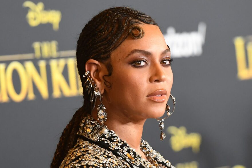 Beyoncé's Black Is King visual album is based on 2019's The Lion King. (Photo by ROBYN BECK/AFP via Getty Images)