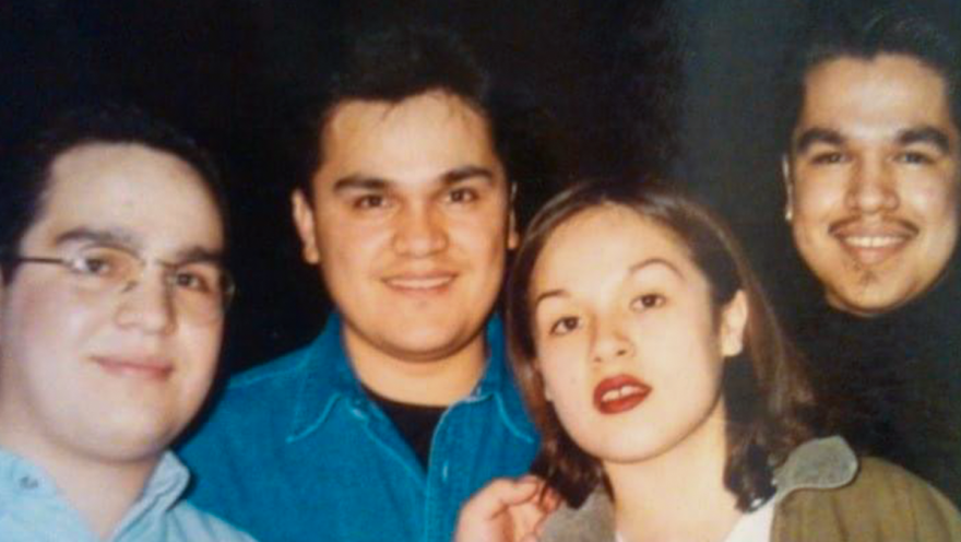 The Valdivia siblings, from left to right: Eliseo Jr., Mauricio, Jessica and Jorge. Mauricio died of COVID-19 complications in April at age 52.