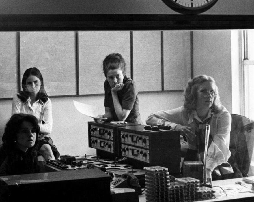 The first All Things Considered studio in 1972.