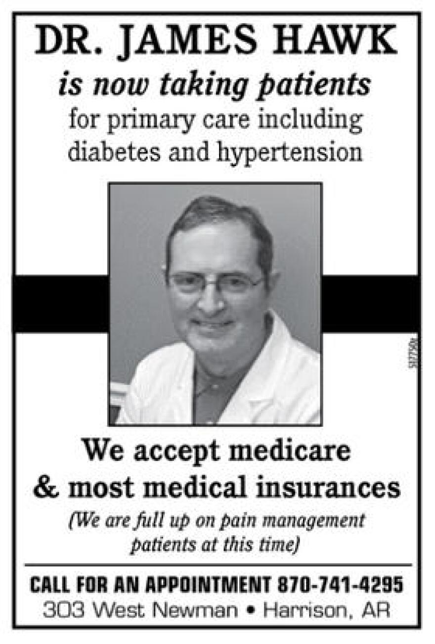 An advertisement in the Harrison Daily on Jan. 24, 2018.
