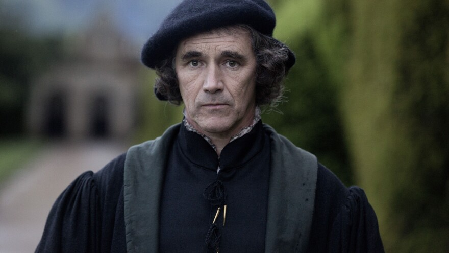 """Actor Mark Rylance, seen here as Thomas Cromwell in Masterpiece's <em>Wolf Hall</em>, views Cromwell as a survivor who knows how to manipulate power to his advantage. """"He has the mind of a chess player,"""" Rylance says."""