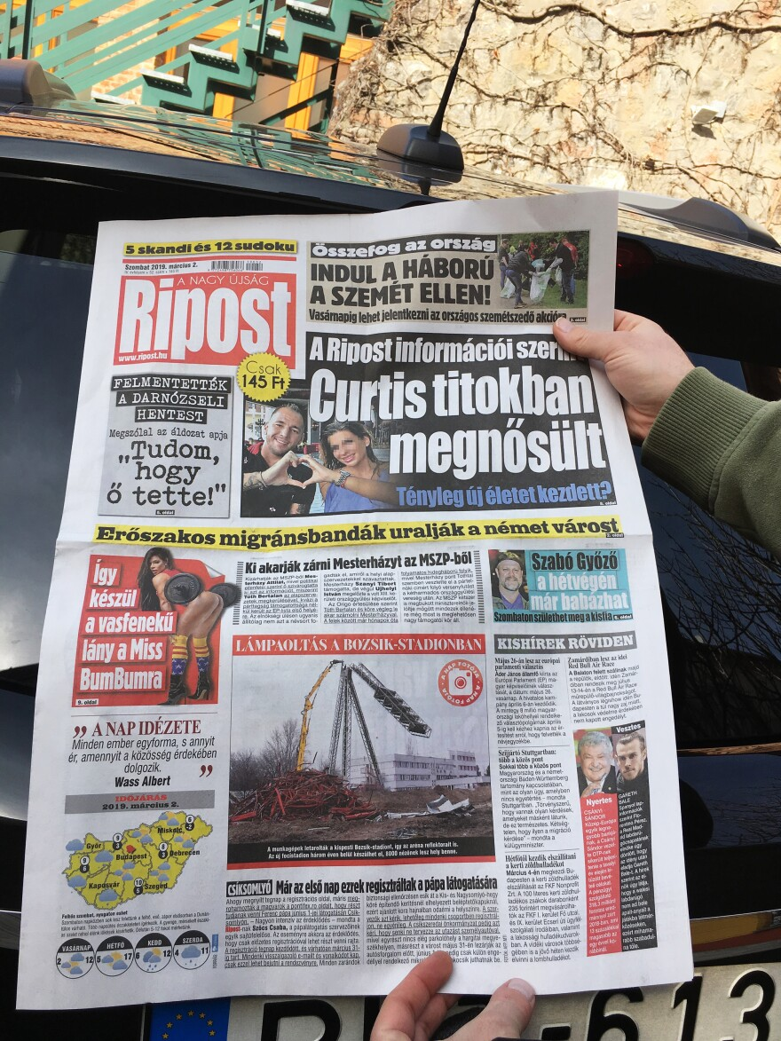 Anti-migrant news is on many front pages of pro-government newspapers in Hungary.
