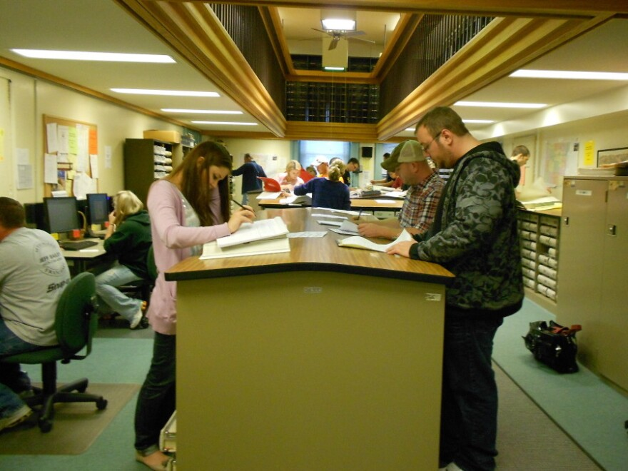 <p> Mary Catherine Nixon, the recorder in Ohio's Belmont County, says she's collecting $1,400 in copying fees alone from the two to three dozen mineral rights researchers who have camped out in her offices for months. </p>