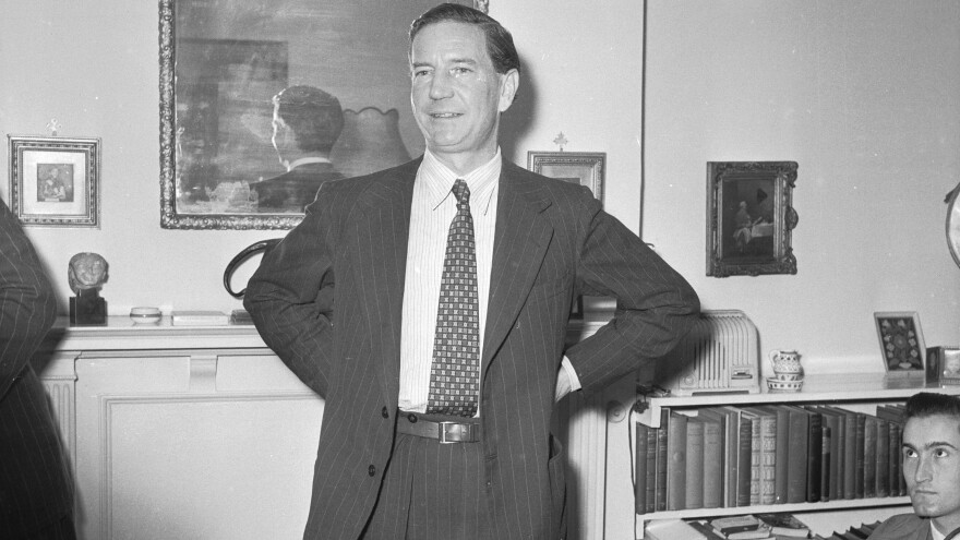 In 1955, British spy Kim Philby denied working for the Soviet Union. Eight years later, he defected to Moscow. He went on to speak to Stasi agents in East German, in an event that was captured on film.