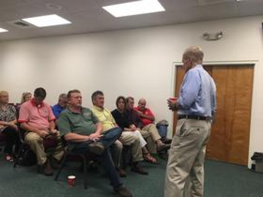 Jackson County commissioners and city managers met with Florida U.S. Senator Bill Nelson Friday to discuss a deep injection well proposed for Marianna. Nelson listened to their concerns.