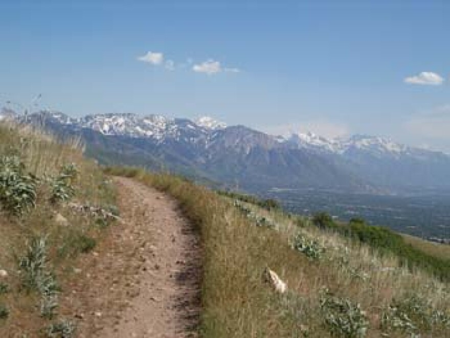 Photo of the Bonneville Shoreline Trail.