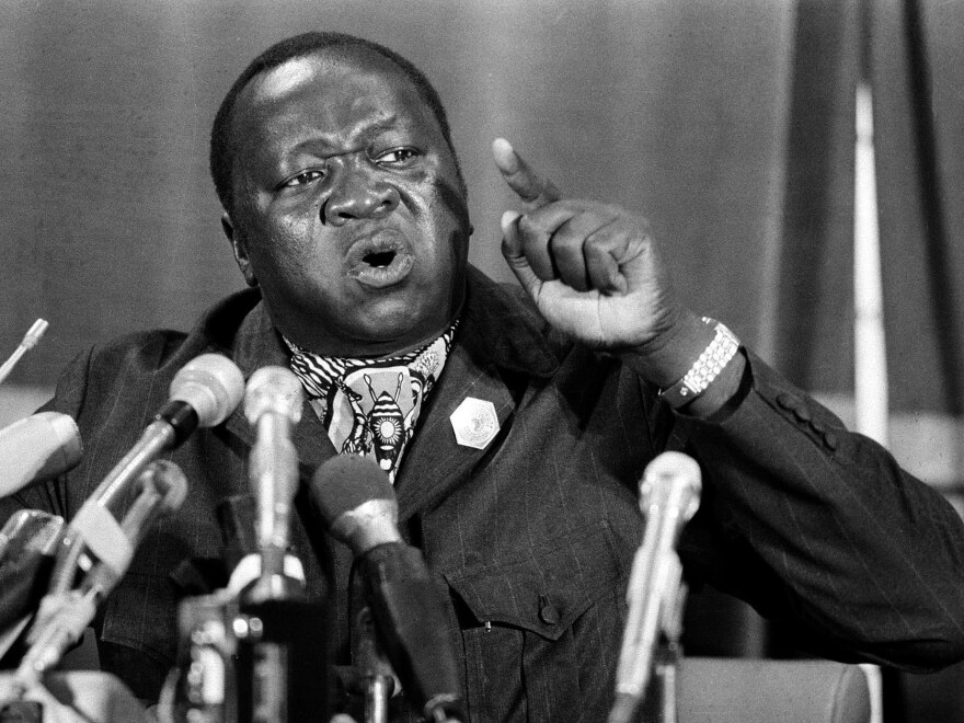 Ugandan President Idi Amin, on March 8, 1977.