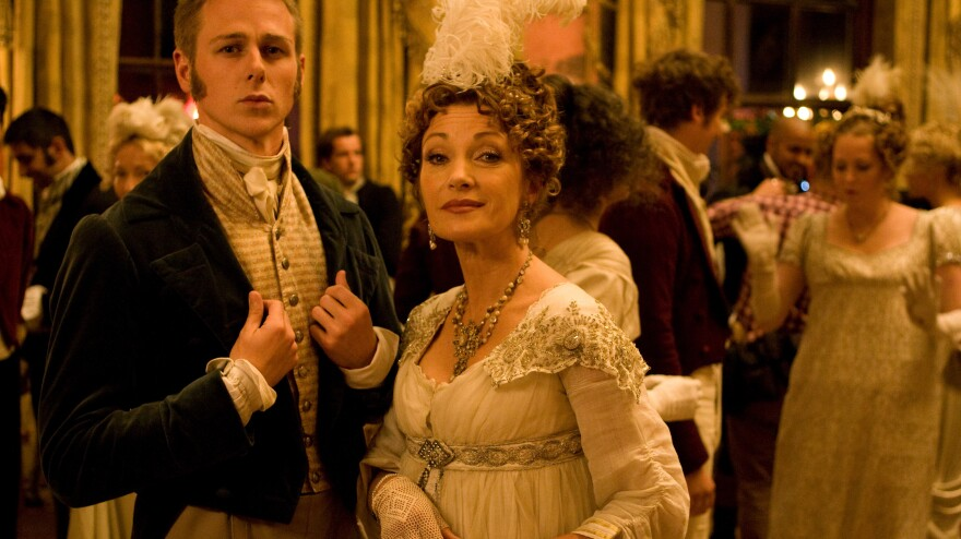 """Jane Seymour plays Mrs. Wattlesbook, proprietress of the """"immersive Austen experience"""" to which Russell's Jane Hobley repairs in search of romance."""