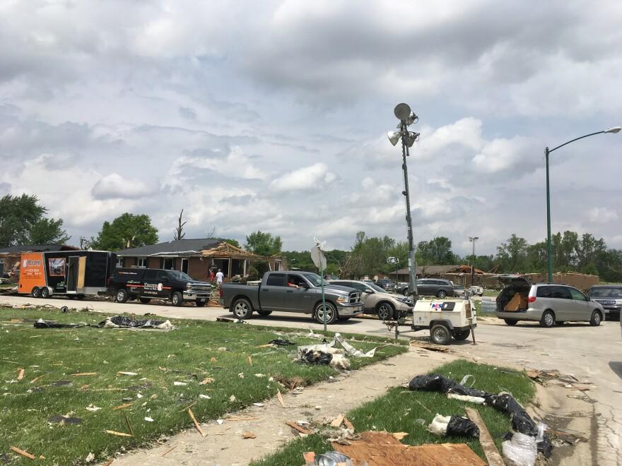 Tornado damage in Celina