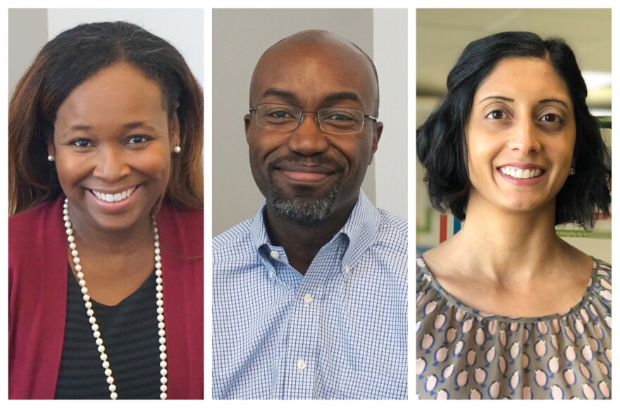 (from left) Sharonica Hardin-Bartley, Jason Purnell and Monika Kincheloe joined Wednesday's St. Louis on the Air to discuss the intersections between health and education.