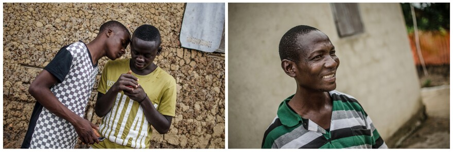 They're Ebola survivors. Teenagers Musa Bayor (left) and Alieu Manor were in the treatment center at Foya together (photo at left). Harrison Sakilla (right) lost seven family members to the virus.