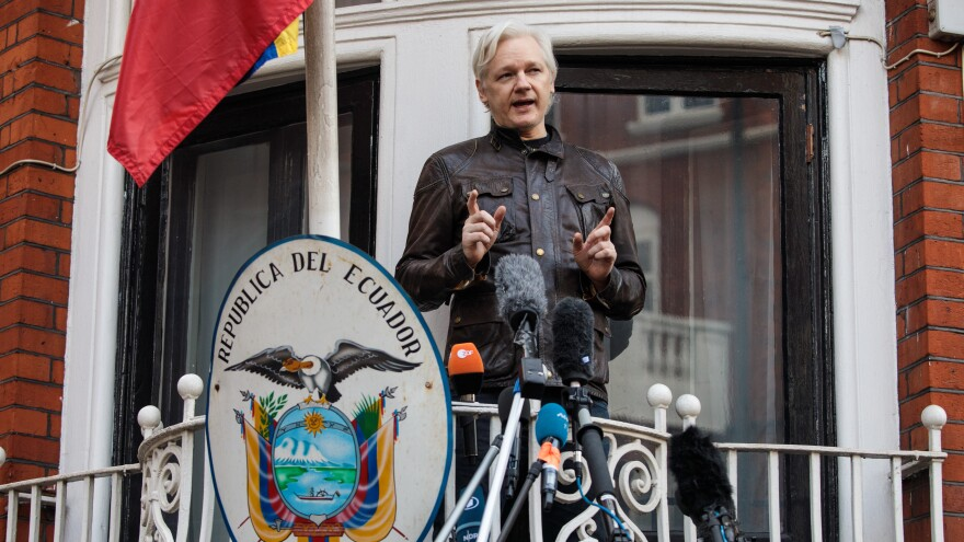 Julian Assange has sought refuge in the Ecuador's London embassy, but charges linked to the Russia investigation could change that.