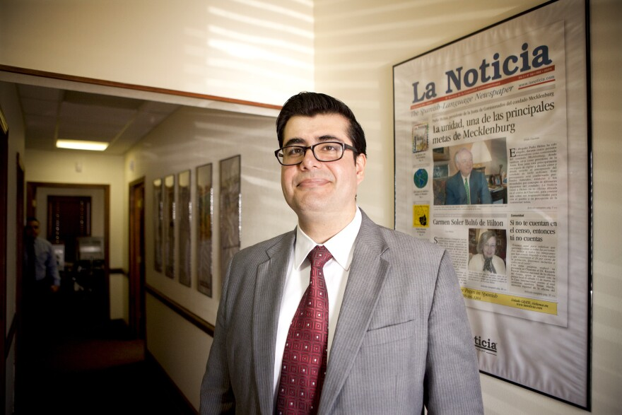 Diego Fernando Barahona Andrade is the editor of <em>La Noticia, </em>North Carolina's oldest Spanish-language newspaper.<em> </em>