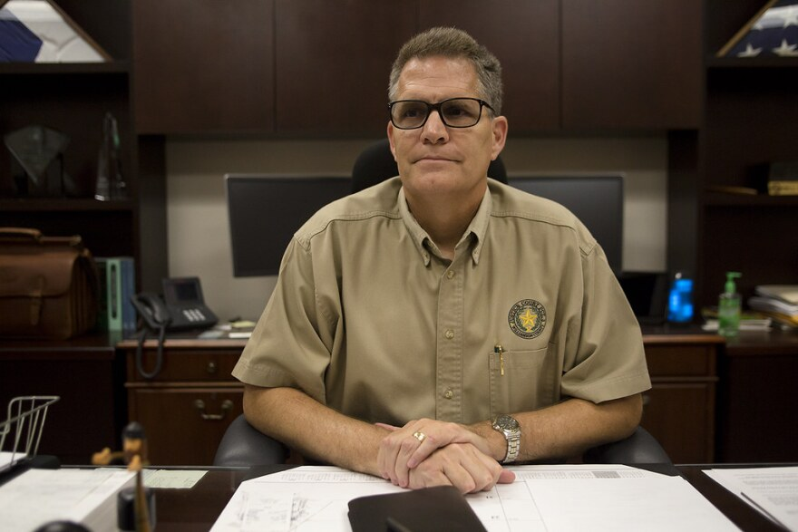 Bill Gravell, serving then as a Williamson County justice of the peace, in his office in 2016.