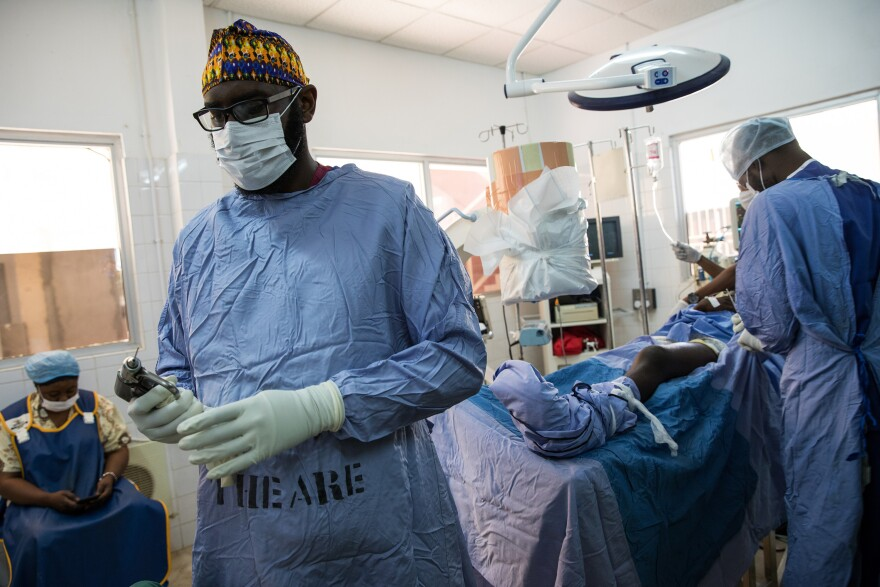 "Marenah says bone surgery can cause a lot of pain for patients. In Gambia, treating that pain, he says, ""can be difficult."""