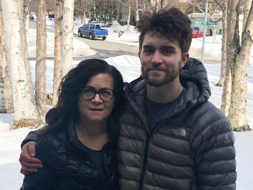 Candace Grenier, a dental hygienist in Anchorage, Alaska, lost her job last month. Both she and her son Ryeder applied for unemployment benefits but haven't gotten them.