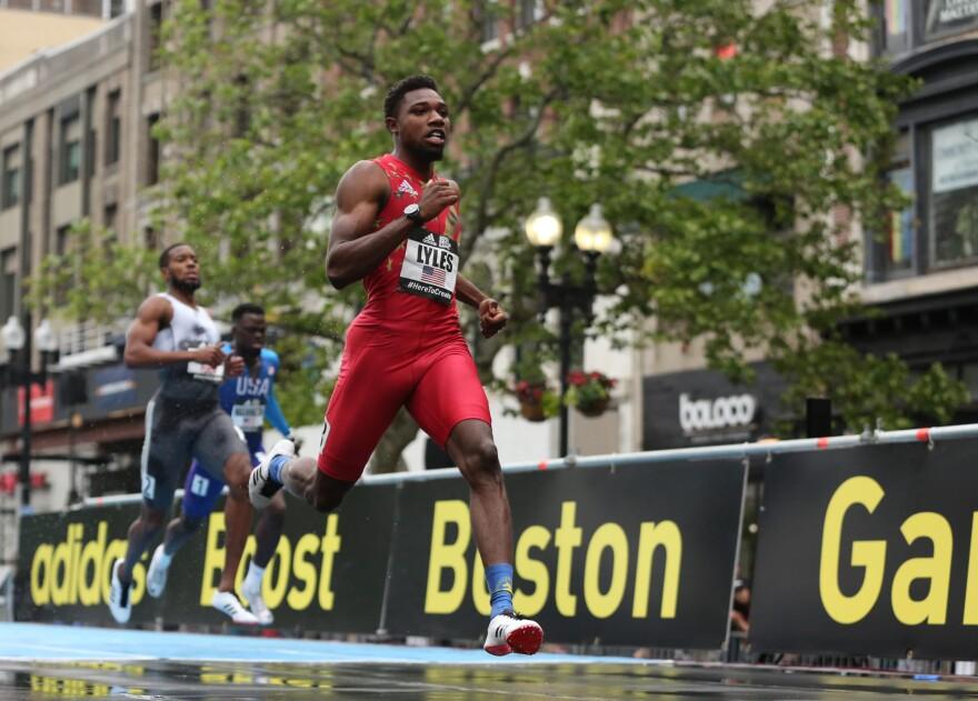 Noah Lyles running. (Global Athletics)