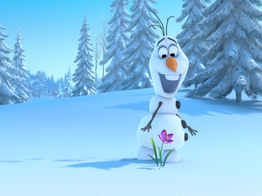 Olaf, a snowman who can't quite keep his head on straight, joins Anna for the adventure — and some comic relief. He's voiced by <em>The Book of Mormon</em>'s Josh Gad.