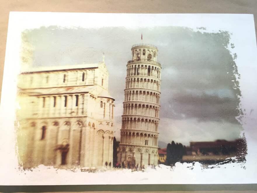 """Pisa"" on fresco. By Tom and Vicki."