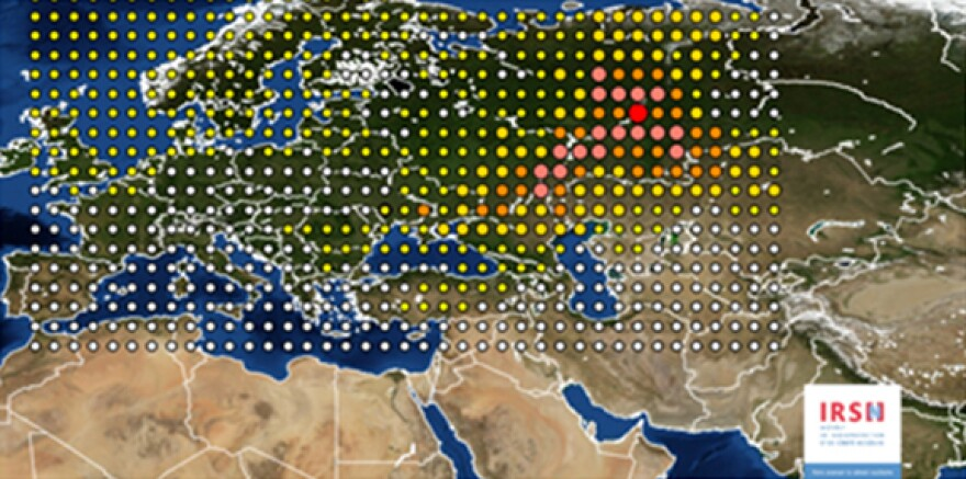 A map from French authorities suggests that the release came from the east, near the border of Russia and Kazakhstan.