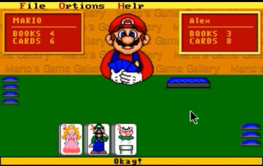 <em>Mario's Game Gallery</em> included classics like Go Fish and checkers.