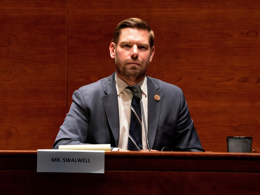 Rep. Eric Swalwell (D-CA) attends a hearing of the House Judiciary Committee on June 24, 2020.