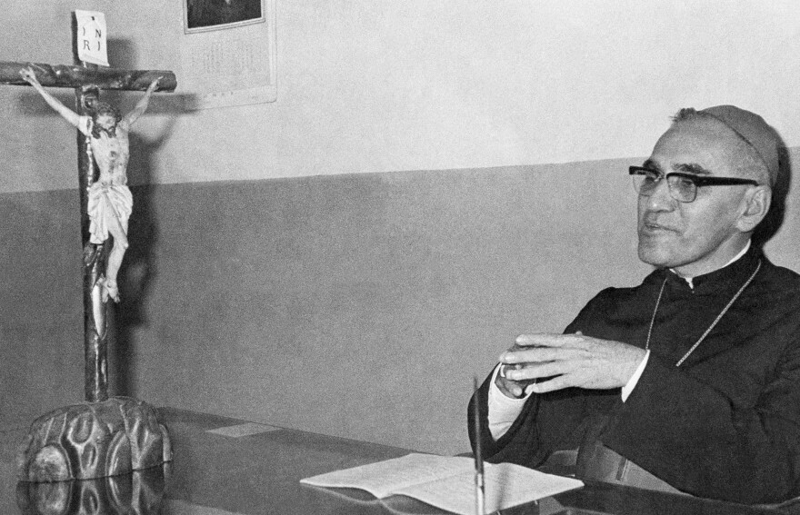 Archbishop Oscar Romero of El Salvador (shown in 1977) was gunned down in a church in San Salvador in 1980 after criticizing a government crackdown. He had been celebrating Mass at the time.