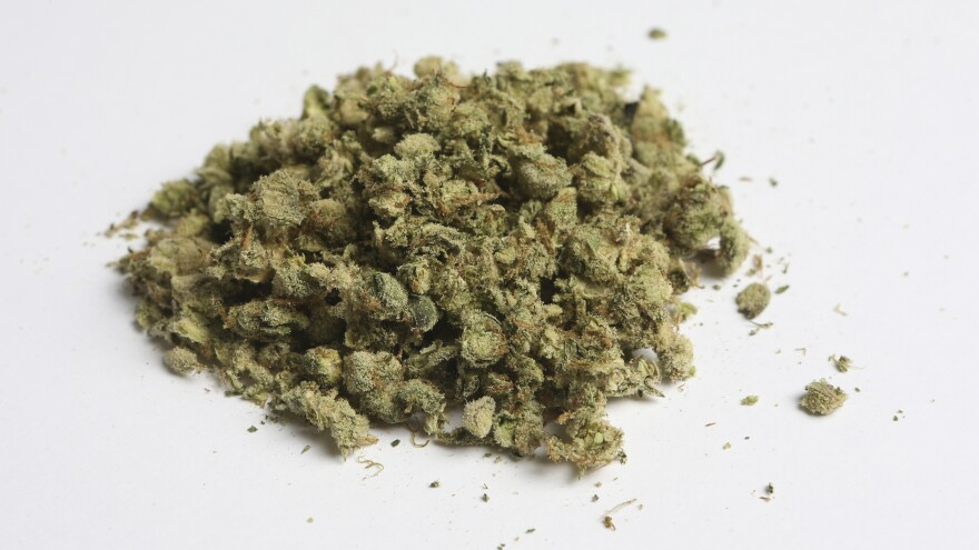 Courts in Kansas City, Mo., can impose a maximum fine of $25 for possession of up to 35 grams of marijuana, after voters embraced a ballot initiative Tuesday. Here, three grams of marijuana is displayed.