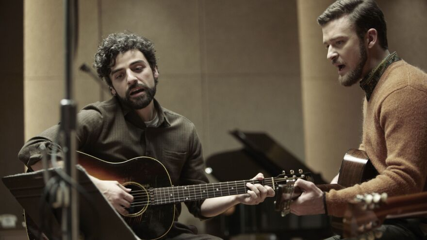 Oscar Isaac (left) and Justin Timberlake in a scene from <em>Inside Llewyn Davis</em>. Both are featured on the movie's soundtrack.