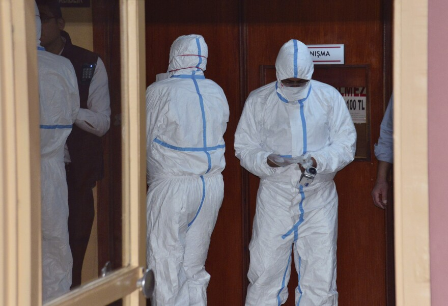 Experts in Turkey did autopsies on Wednesday on Syrians killed Tuesday in Idlib. Turkish Justice Minister Bekir Bozdag said results show they were subjected to chemical weapons in the attack by Syrian government forces.