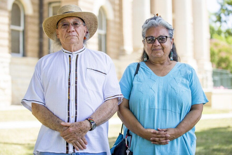 Mario Garza and Maria Rocha of the Indigenous Cultures Institute in San Marcos.