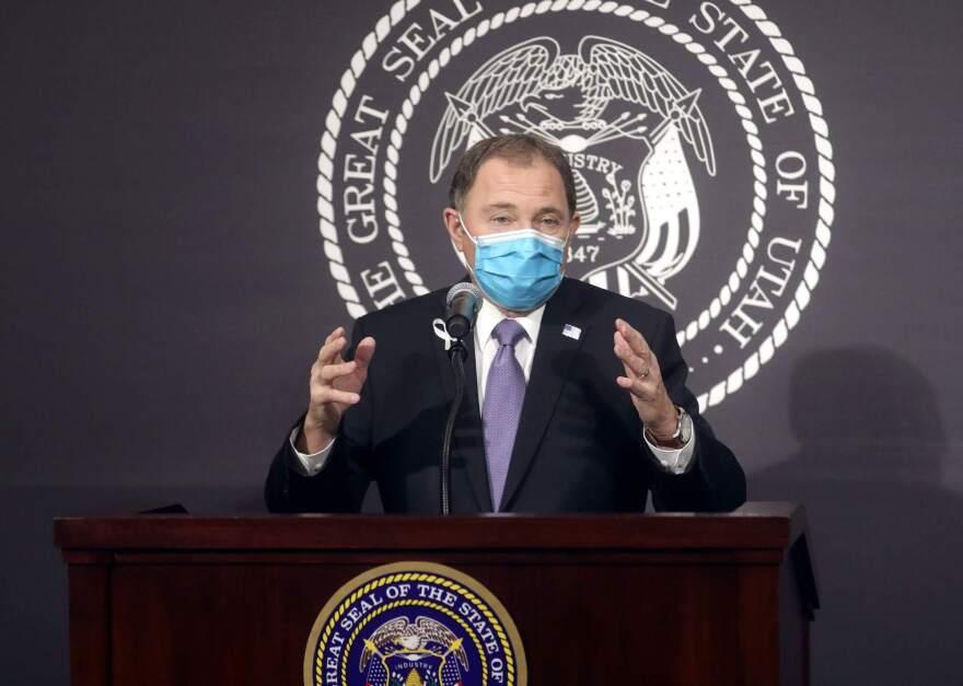 Photo of gary herbert wearing a medical mask