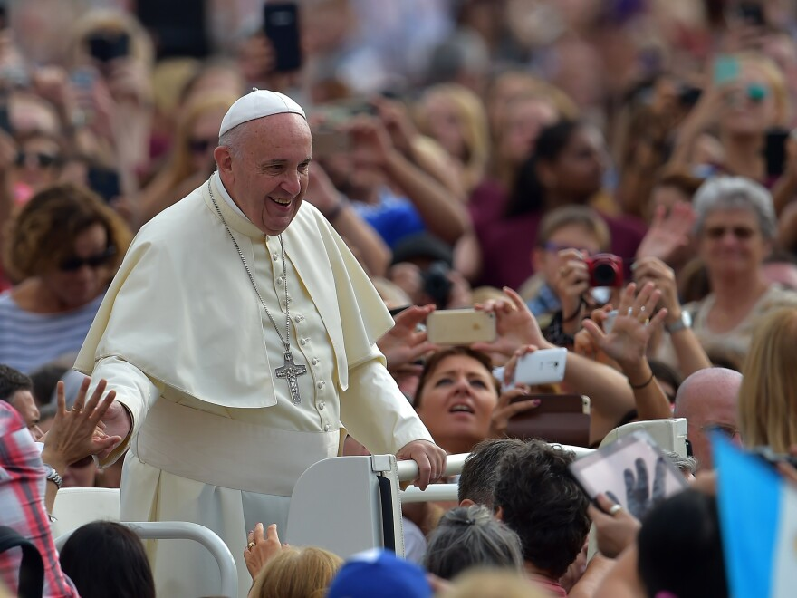 Pope Francis, shown here at St. Peter's Square at the Vatican, will arrive in Washington on Sept. 22, his first-ever visit to the U.S.
